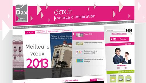 Page d'accueil du site de la ville de Dax